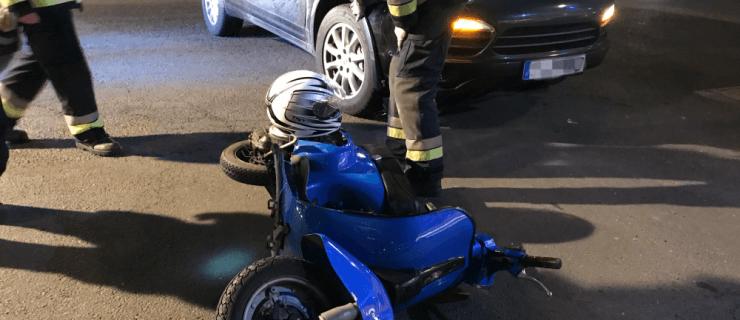 Verkehrsunfall zwischen PKW und Motorrad