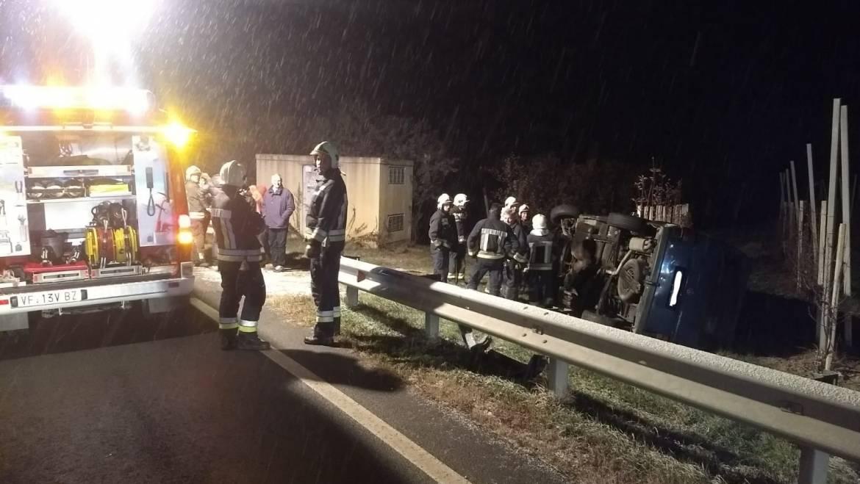 Verkehrsunfall auf der Staatsstraße Richtung Tramin