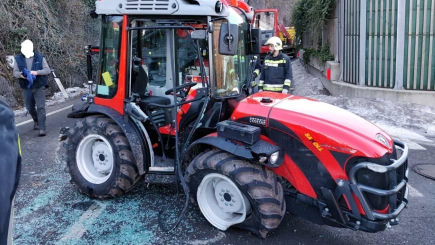 Traktorunfall – VIDEO