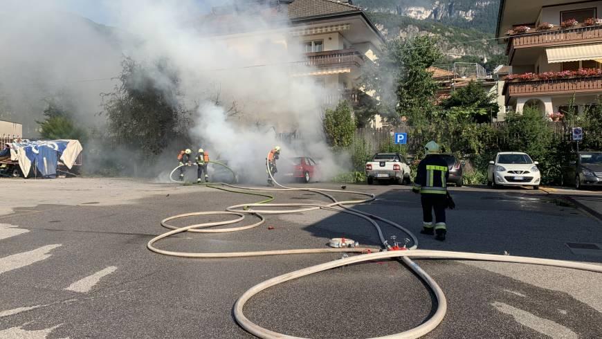 Lieferwagen explodiert